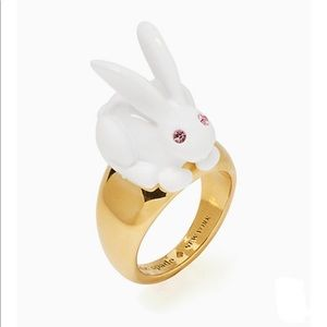 NWT Kate Spade Bunny Forest Party Ring Sz 8